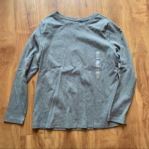 BNWT Grey Cotton Long Sleeve Shirt Size Large